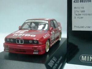 Wow extrêmement rare BMW M3 E30 Dtm 1988 # 56 Müller Zolder 1:43 Minichamps-635 / e21 4012138070820