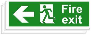 Feu Sortie De Sécurité Signes-running Man Arrow Gauche (divers Tailles Disponibles) (1/5)-afficher Le Titre D'origine Ihchrzrl-07215338-229940325