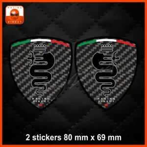 Carbon-look-ALFA-ROMEO-sticker-decal-aufkleber-adesivo-Mito-Giulietta-147-0056