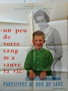 Affiche-ancienne-Campagne-pour-Don-de-Sang