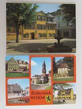2x DDR AK Thüringen WEIMAR (Schiller-Haus und Lucas-Cranach-Haus) color ungelauf