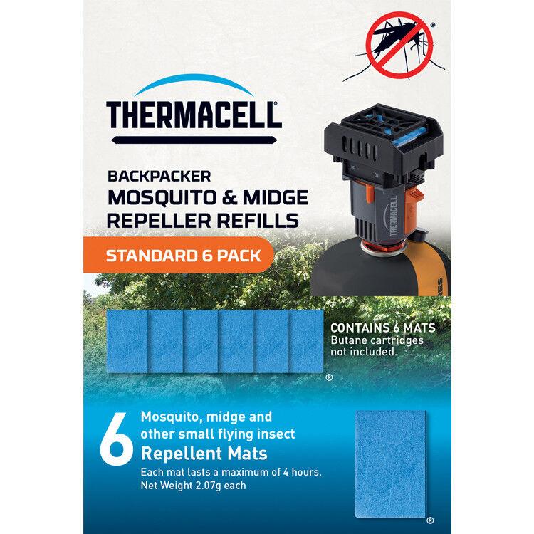 Thermacell Backpacker Moustique et Midge Répulsif Recharges Standard Pack Pack Pack de 6 52702e