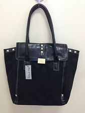NEW! XOXO DIZZY JACQUARD BLACK SIGNATURE LOGO SATCHEL TOTE BAG PURSE $79 SALE