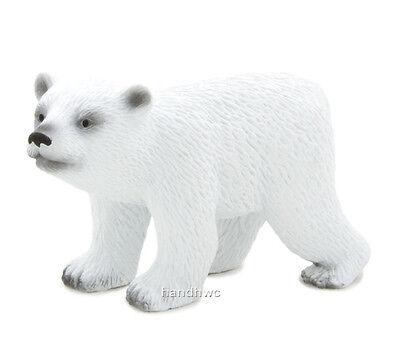 Mojo Fun 387020 Polar Bear Cub Walking Wild Animal Toy Replica NIP