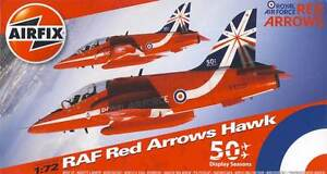 Airfix-Red-FLECHAS-Hawk-50th-Temporada-BAE-T-mk-i-Royal-Air-Force-1-72