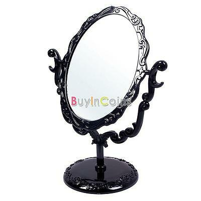 Desktop Retro Gothic Small Large Size Makeup Stand Mirror Black Butterfly Flower