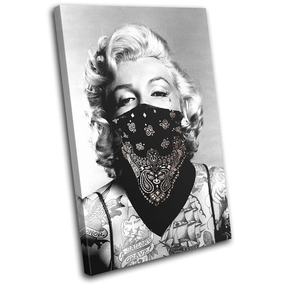 Marilyn Monroe Tattoo  Iconic Celebrities SINGLE TOILE murale ART Photo Print