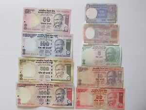 Image Is Loading Indian Ru Currency Paper Money Bank Note 1