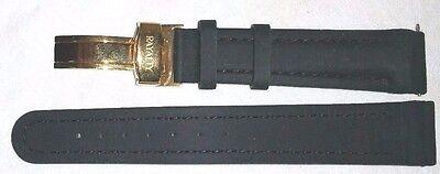 NIP - RAYALTY GENUINE RUBBERIZED WATCH STRAP / BAND Black w/ Gold clasp 18 mm