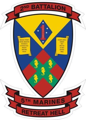Sticker  USMC Marine Corps 2nd Battalion 5th Marine Regiment Decal
