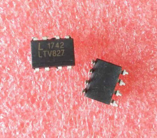 10PCS LTV827 827 LITEON OPTOISOLATOR 5KV 2CH TRANS DIP-8