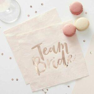 Pink-amp-Rose-Gold-Hen-Party-Napkins-Team-Bride
