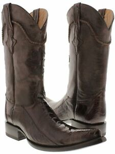 fd0eeaa2040 Details about Mens Brown Ostrich Foot Exotic Skin Cowboy Boots Genuine  Leather Pointed Toe