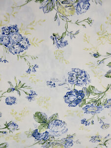 ROBERT-ALLEN-Blue-Floral-Cotton-Upholstery-Drapery-Fabric-3-75-Yd-x-56-034-W