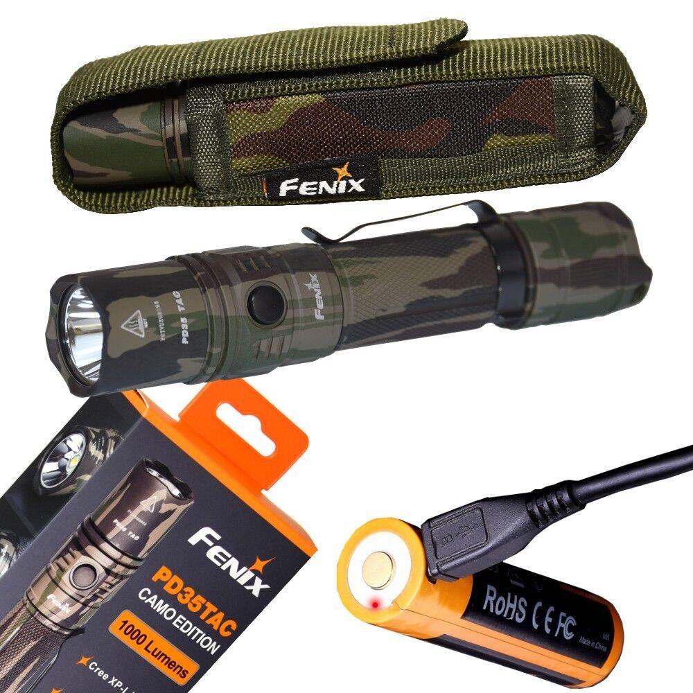 Fenix PD35 TAC Camo Edition 1000 Lumen Cree LED tactical Flashlight rechargeable