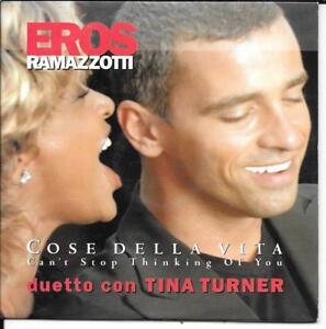 CD-SINGLE-2-TITRES-EROS-RAMAZZOTTI-amp-TINA-TURNER-COSE-DELLA-VITA-1999