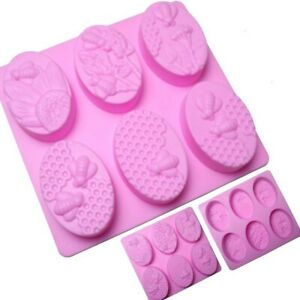 Mold Soap Silicone Honey Bee Mould 6-Cavity DIY Tray for Homemade Making New