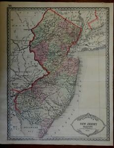 New-Jersey-State-Map-Delaware-River-Trenton-1892-Tunison-map