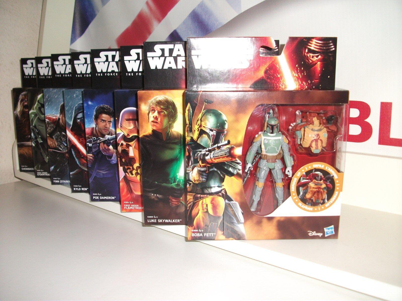 Star wars THE FORCE AWAKENS ARMOR UP full wave Hasbro box LUKE BOBA FETT KYLO