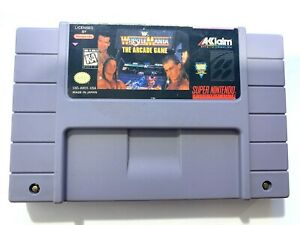 WWF-Wrestlemania-The-Arcade-Game-SUPER-NINTENDO-SNES-Game-Tested-amp-Working