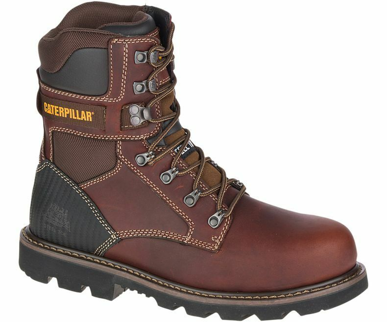CAT Caterpillar Indiana 2.0 Steel Toe Work Boot P90870 Brown Leather Men's 8 W E