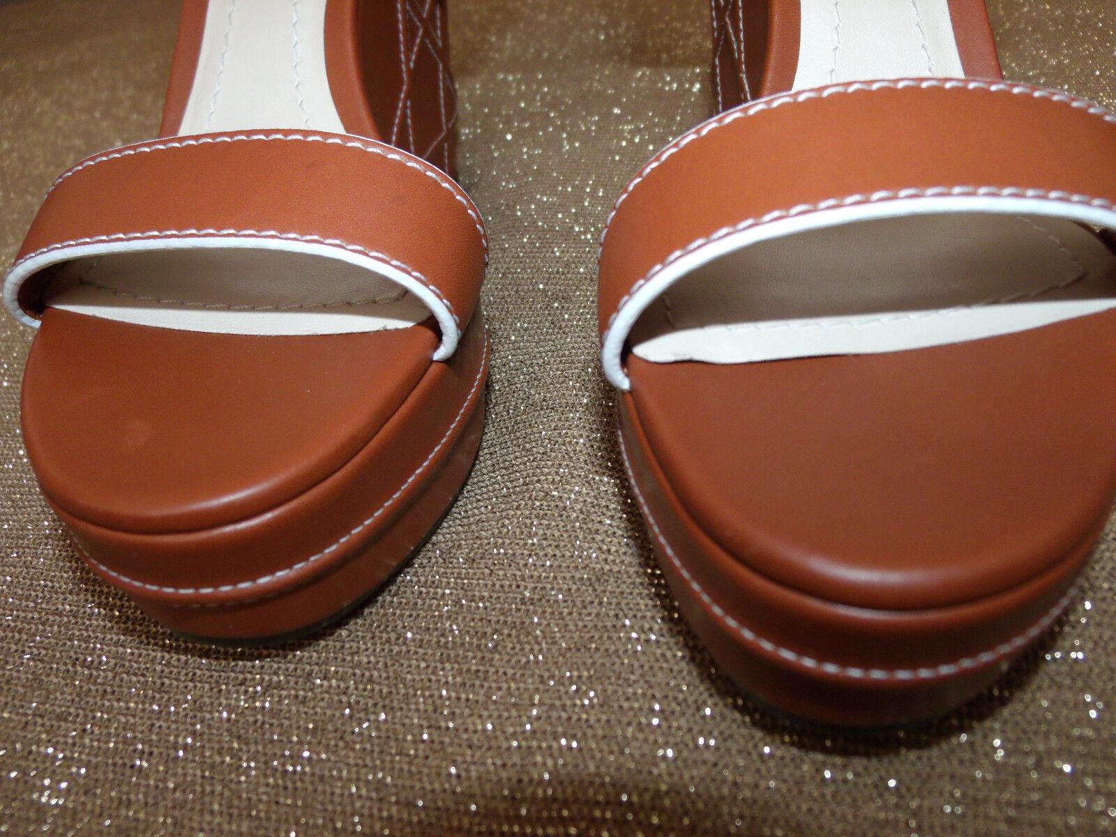 Christian Dior yacht femmes Sz 9 safari marron compensé sandale sandale sandale 14712, Liste 696   22ee0a