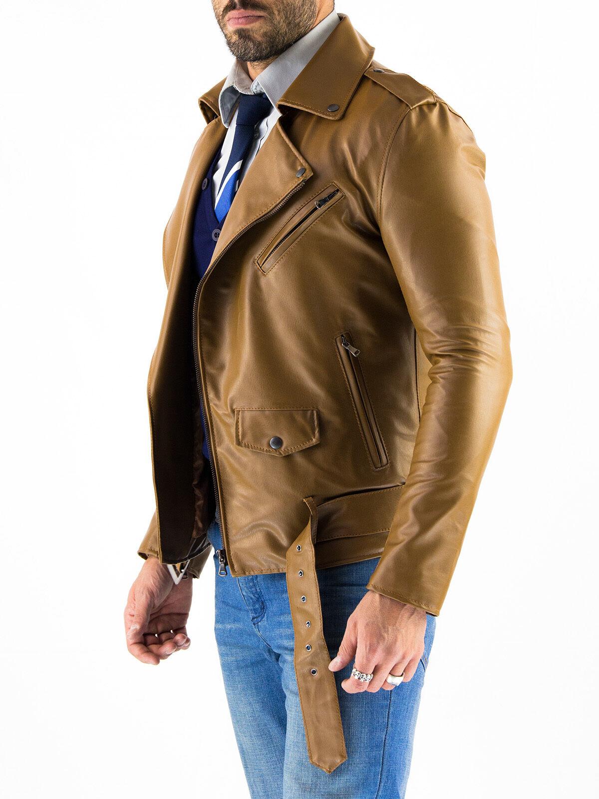 US Veste en cuir Hommes veste cuir Herren Lederjacke Chaqueta Cuero Q12ckh3