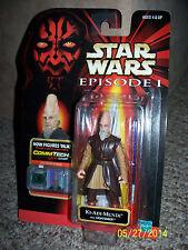 Star Wars KI ADI MUNDI Jedi Action Figure Hasbro, CommTech Chip, Lightsaber