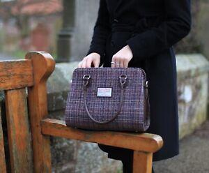 dd94fa020f0 Image is loading Ladies-Authentic-Harris-Tweed-Midi-Tote-Findhorn-Bag-