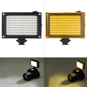 96-LED-Videolichtlampe-die-Blitzschuh-fuer-Canon-Nikon-DSLR-Camera-CamcoF8X0