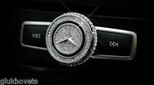 Mercedes Benz Adjuster Volume Cap W Swarovski Clear Crystals (Fits All Models)