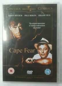 Cape-Fear-1961-Robert-Mitchum-Gregory-Peck-2008-Sealed-UK-Region-2-amp-4-PAL-DVD