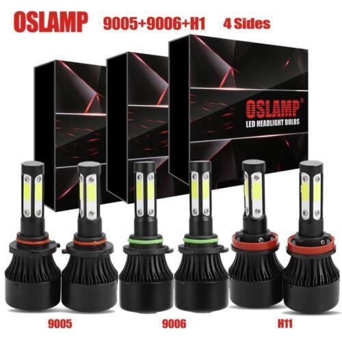 9005+H11+9006 4 Sides 4200W 630000LM Combo CREE LED Headlight Kit Hi Low Bulb