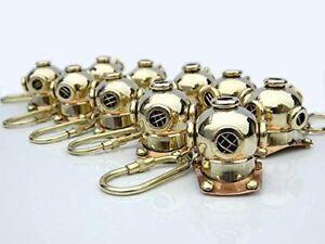 Nautical Inclinometer Key chain Marine Brass Keychain Clinometer Key Ring Compas
