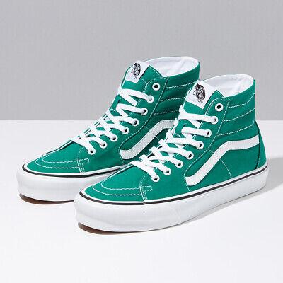 Vans SK8 Hi conique Chaussures De Skate Haute Baskets VertBlanc VN0A4U16RW8 4 13 US | eBay