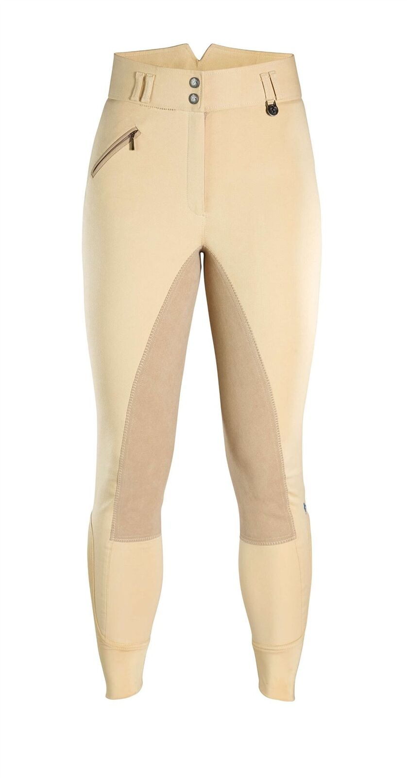 Caldene Ladies Womens Hartpury High Waist Full Suede Seat Horse Riding Breeches