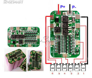 6S-15A-BMS-Protection-PCB-Board-Li-ion-Lithium-18650-Battery-Cells-For-6-Packs