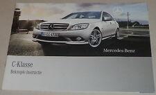 Kurzbetriebsanleitung / Beknopte instructie Mercedes C-Klasse W204 Stand 05/2008