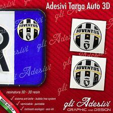 2 Adesivi Stickers bollino 3D Resinato targa Auto Moto JUVENTUS Juve calcio