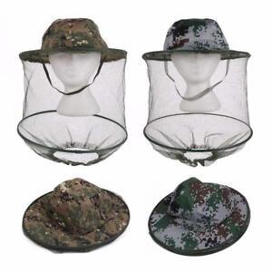 Tarnung-Anti-Moskito-Bienen-fliegen-Hut-Schleier-Mosquito-Kopf-Schutz-Hut-Q