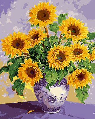 Artistic Still Life Beautiful HP Design Needlepoint Canvas The Sunflowers