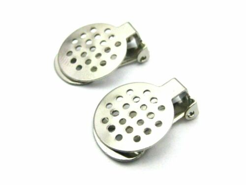 Craft DIY Dull Silver Tone Clip On Snap Dangle Earring Hooks Findings Lever Back