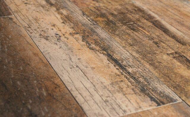 5x24 Rectified Wood Look Oak Porcelain Plank Tile Floor Per Piece