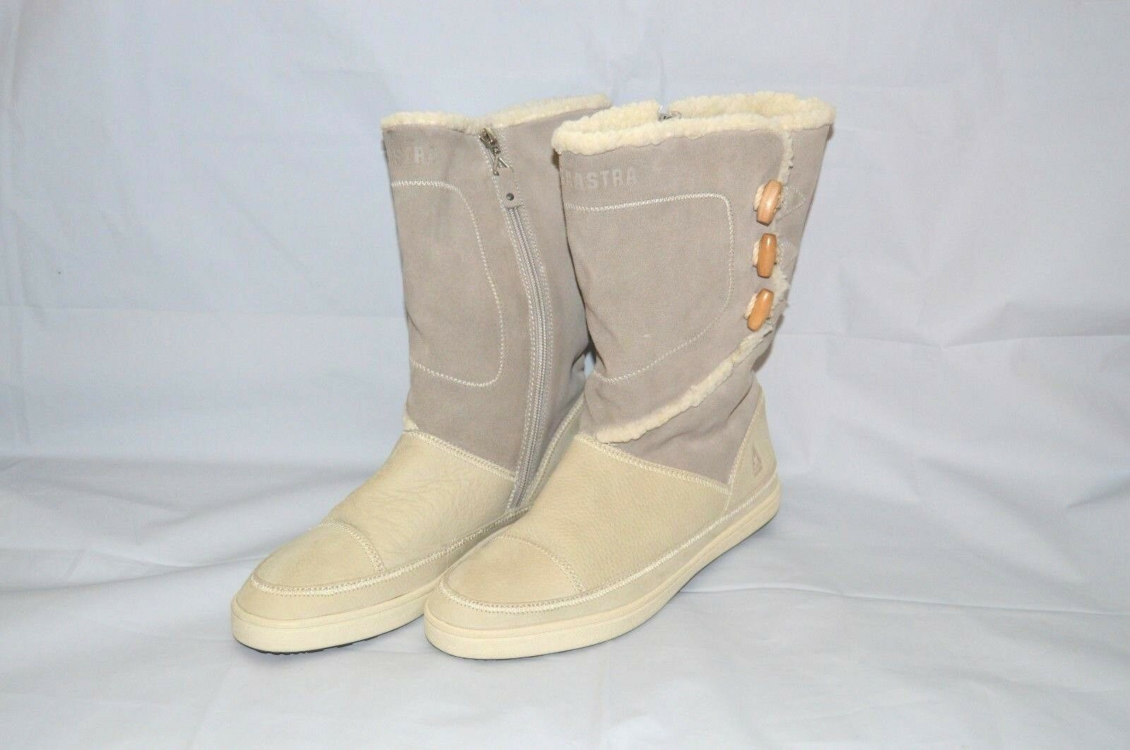 GAASTRA WINTER BOOTS LEATHER SIZE 41 TOGGLE & SIDE ZIPPER
