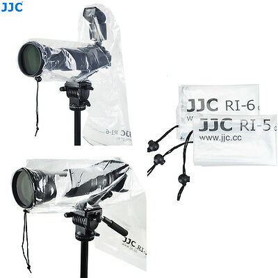 JJC 2 PACK SET OF WATERPROOF RAIN COVER PROTECTOR FOR Canon Nikon DSLR CAMERA