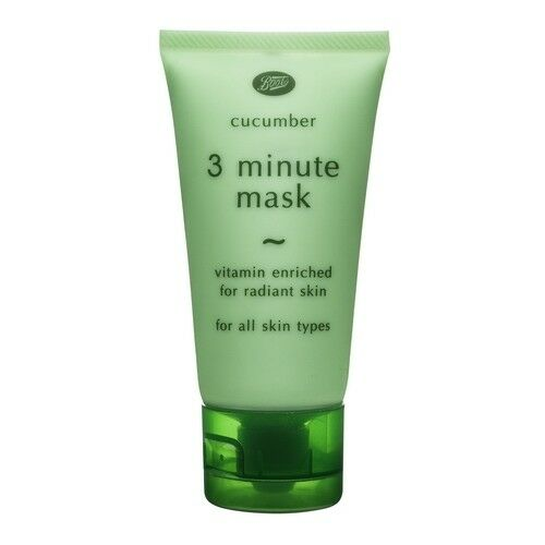 3x 50 g. Boots Cucumber 3 Minute Face Mask Vitamin Enriched for Radiant Skin