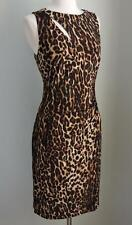 NWT RALPH LAUREN Ocelot Leopard Matte Jersey Dress 12 ( Large ) $139.00
