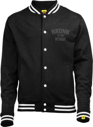 KRONK College Jacket Black with Vintage style print