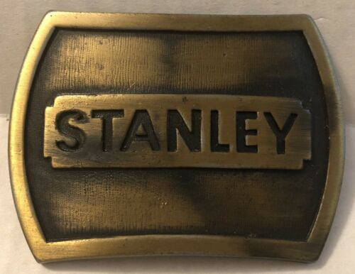 Details about  /1978 Stanley Belt Buckle Made In USA Stanley Works J