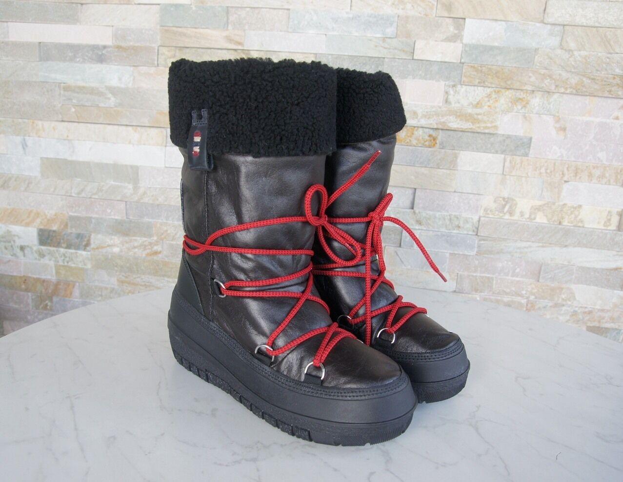 Napapijri GR 36,5 botas fell nieve botas zapatos zapatos bella negro nuevo